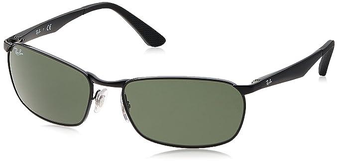 6be5e4f3f1 Ray-Ban METAL MAN SUNGLASS - BLACK Frame GREEN Lenses 59mm Non-Polarized