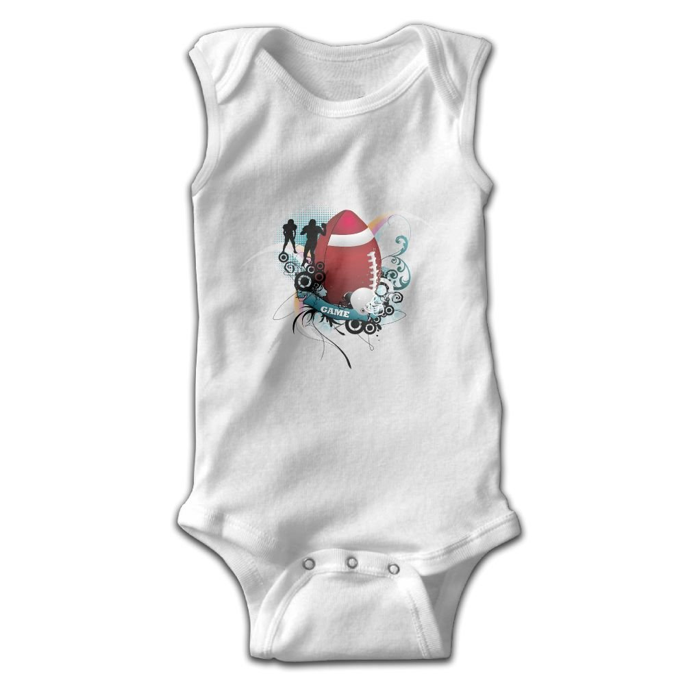 Efbj Infant Baby Boys Rompers Sleeveless Cotton Onesie,Rugby Bodysuit Summer Pajamas