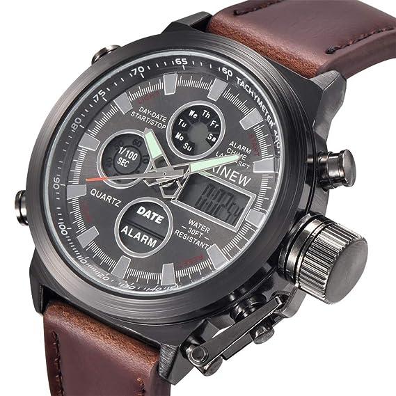 Samtlan Relojes para Hombres Negocios del Reloj Relojes Casuales de Lujo clásicos con Calendario Multifunciones Impermeables Reloj de Cuarzo: Amazon.es: ...
