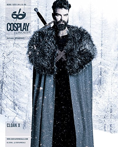 Cosplay by McCall's M20160A0 Cloak X Sewing Pattern, S-M-L-x-Large-Xx-Large