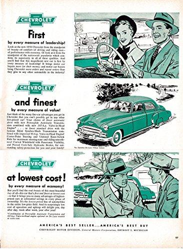 (1955 Chevrolet Styleline De Luxe 4 Door Sedan -Original 13.5 * 10.5 Magazine Ad)