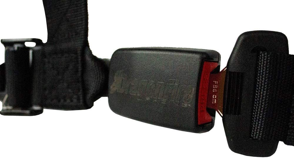 Dragonfire Racing 4-Point 3 H-Style AUTO LATCH with EZ Adjust shoulder straps and memory foam pads