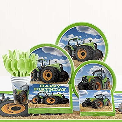 Creative Converting Tractor Time Birthday Party Supplies Kit: Toys & Games