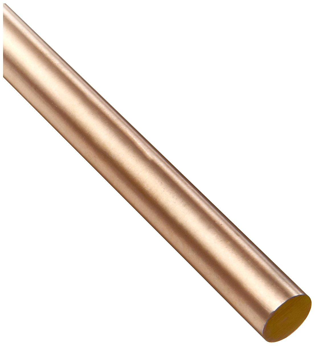 Copper Tungsten Round Rod, Ground, Precision Tolerance, RWMA CL 10, 1/4'' Diameter, 12'' Length by Small Parts