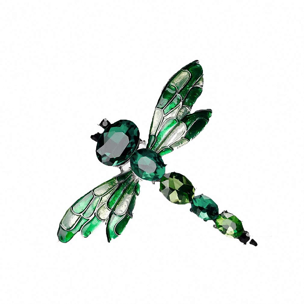 Jana Winkle 3 Colors Crystal Rhinestone Dragonfly Brooches Women Cloth Brooch Pins Jewelry Accessories Gift 2
