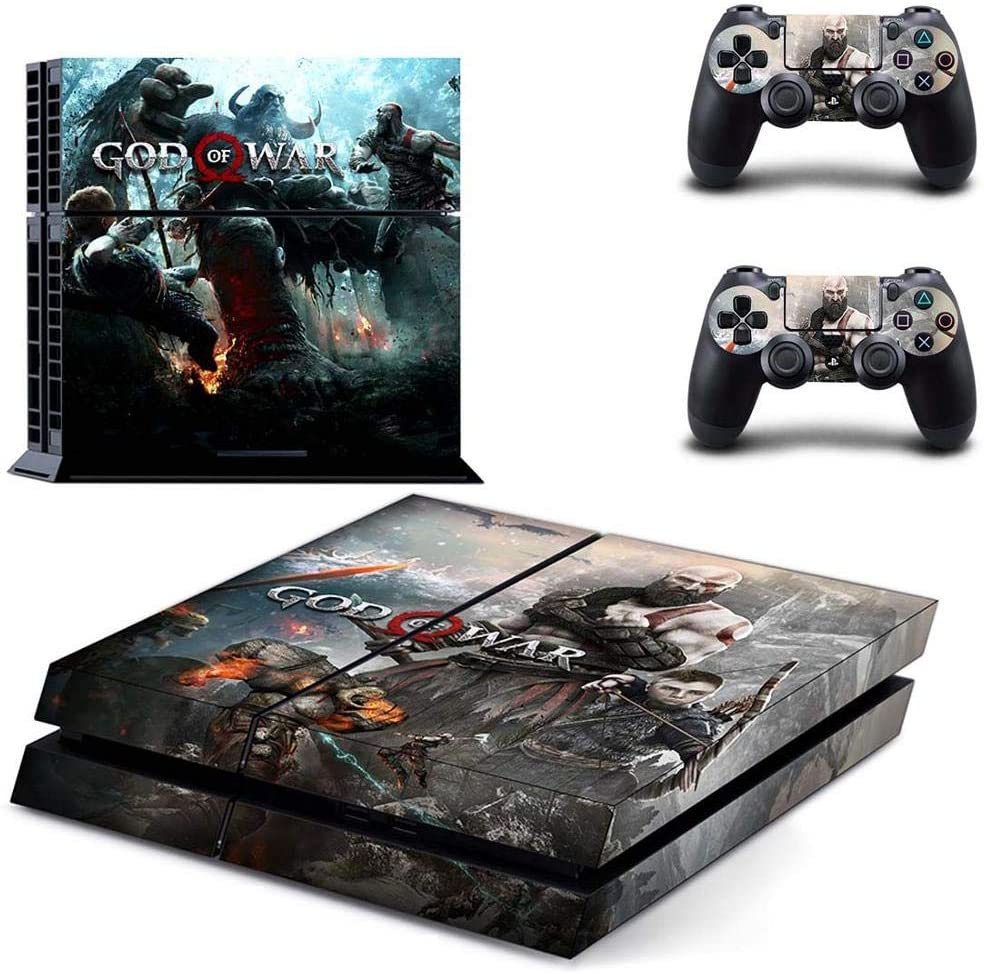 Amazon Com God Of War Ps4 Console Skins Kratos Gow Ps4