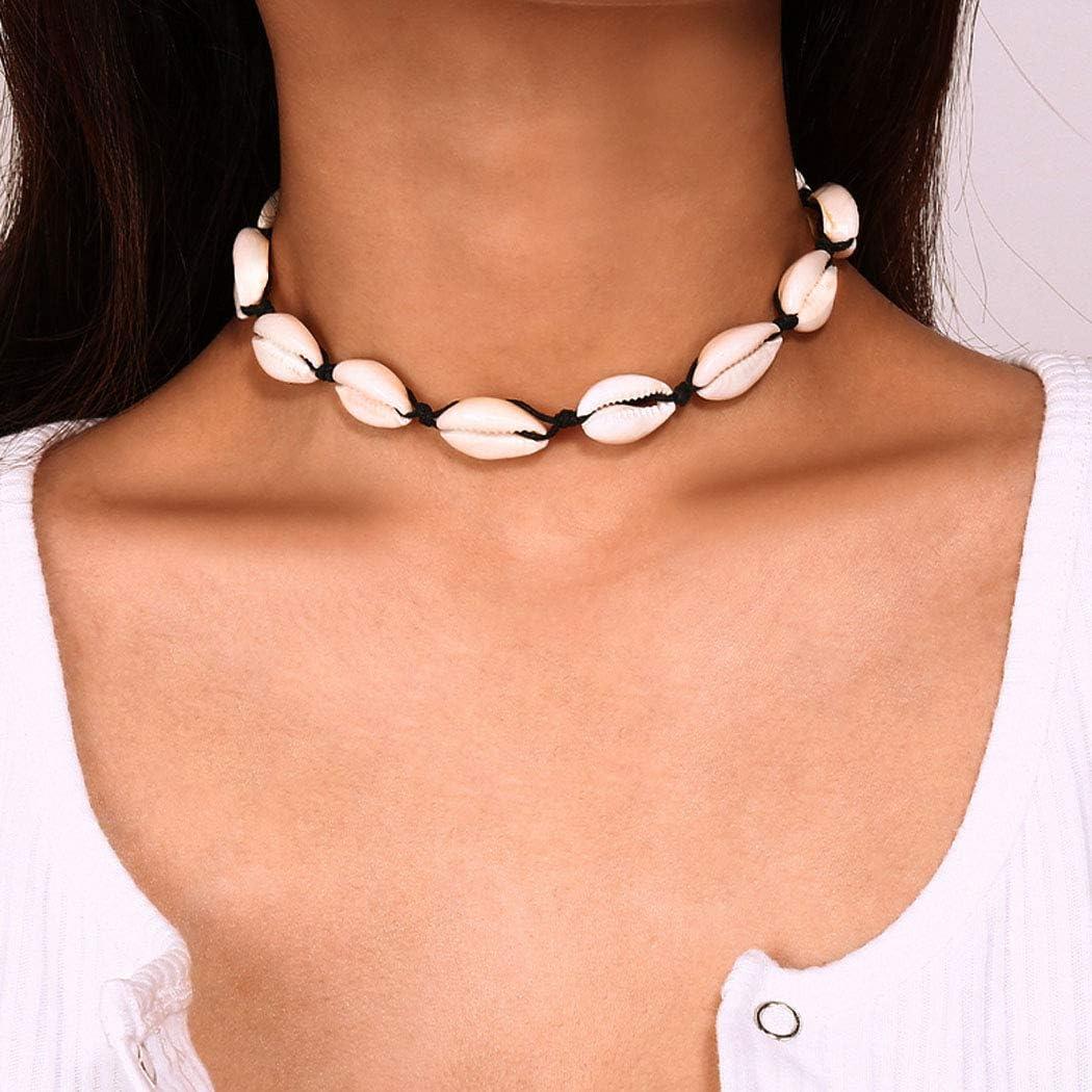 Yean Beach Seashell Gargantilla Collar Vintage Shell Retro Joyería para Mujeres y Niñas