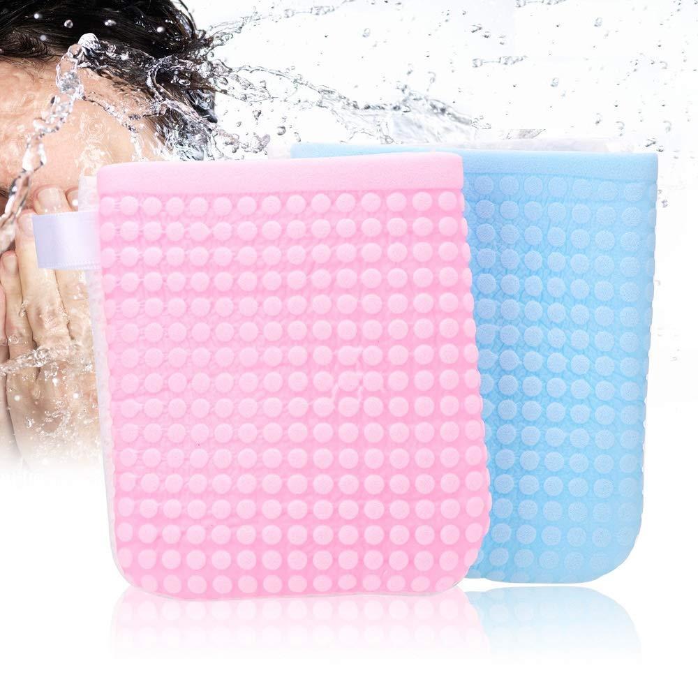 Huihuger beauty Face, guanti per la pulizia naturale morbido struccante riutilizzabile pulizia guanto del viso Puff