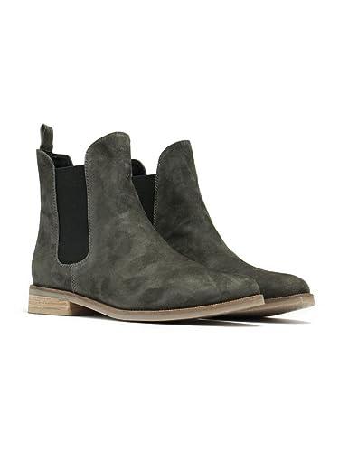 138e94291d72 Imogen Womens Grey Suede Chelsea Boots
