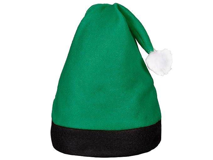 Cappello da Babbo Natale con Pon Pon (wm-42) Verde Nero di Feltro per  Adulti Uomo Donna di Alsino  Amazon.it  Casa e cucina e5a45bf206ca