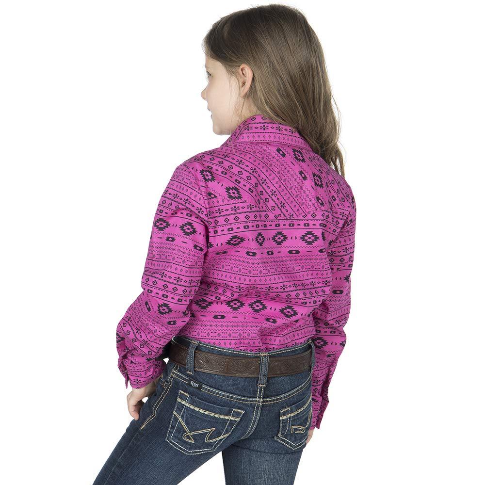 Cruel Girl Girls Aztec Print Snap Long Sleeve Western Shirt