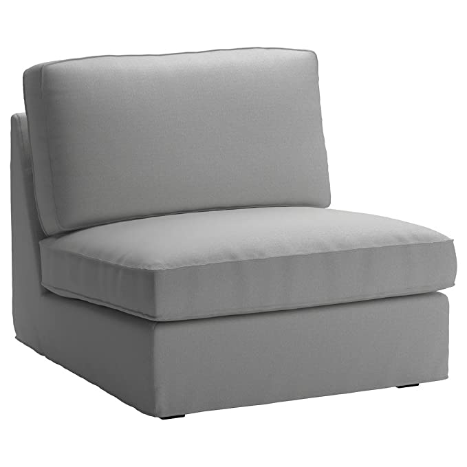 Cotton IKEA Kivik Chair Cover Replacement. Kivik Armchair Slipcover, Or One Seat Sofa Cover (Darker Gray)