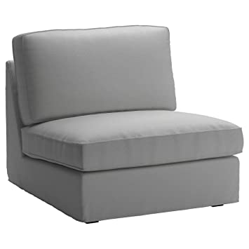 Cotton IKEA Kivik 1 Seater Sofa Chair Cover Replacement. Kivik Armchair Slipcover, Or One Seat Sofa Cover (Lighter Gray)