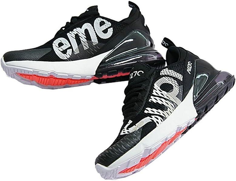 detailed look d0cd2 0b772 Supreme x Air Max 270 Sup Black White Chaussures de Gymnastique Running  Homme Femme