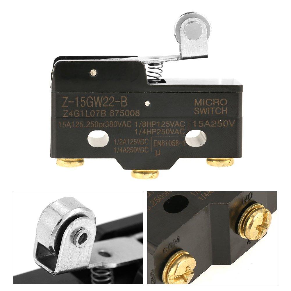 Finecorsa 10 pezzi Z-15GW22-B Limite momentaneo Microinterruttore Interruttori a scatto rapido Terminale rel/è Strumento di scatto a scatto in miniatura