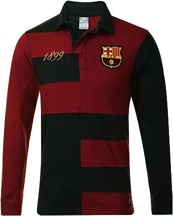 Nike para Hombre GF Barca Rugby Polo de Manga Larga Jersey Top ...