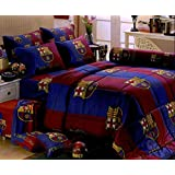Barcelona Football Club Official Licensed Bedding In Bag Set (King Size,BC002); 1 Four Season Comforter with 4 pieces of Bed Fitted Sheet Set