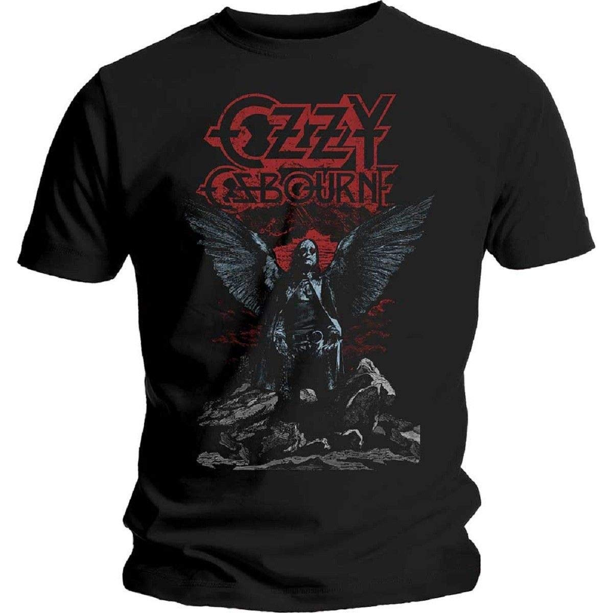 Ozzy Osbourne Angel Wings Officially Licensed Tee Adult 2XL