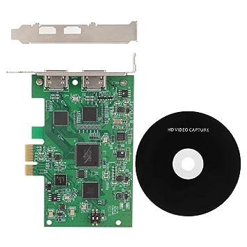 Diyeeni Tarjeta de Captura de Video PCIe, 1080P a 60 fps ...