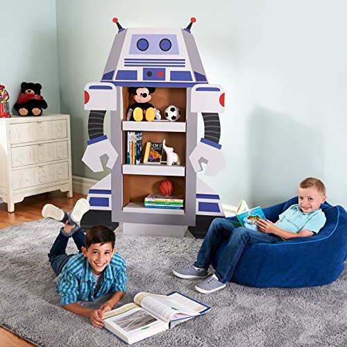 - Rocket to Space Robot Room Decoration - Life Size Cardboard Character Bookshelf
