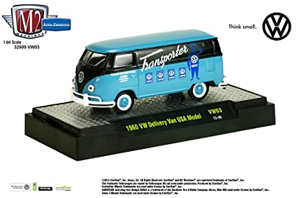 b4a42d3cee Amazon.com  1960 DELIVERY VAN USA MODEL (Dove Blue w Black)   M2 ...