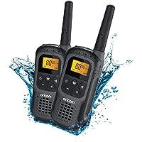 Oricom UHF2500-2GR 2 watt Waterproof Handheld UHF CB Radio Twin Pack, Grey