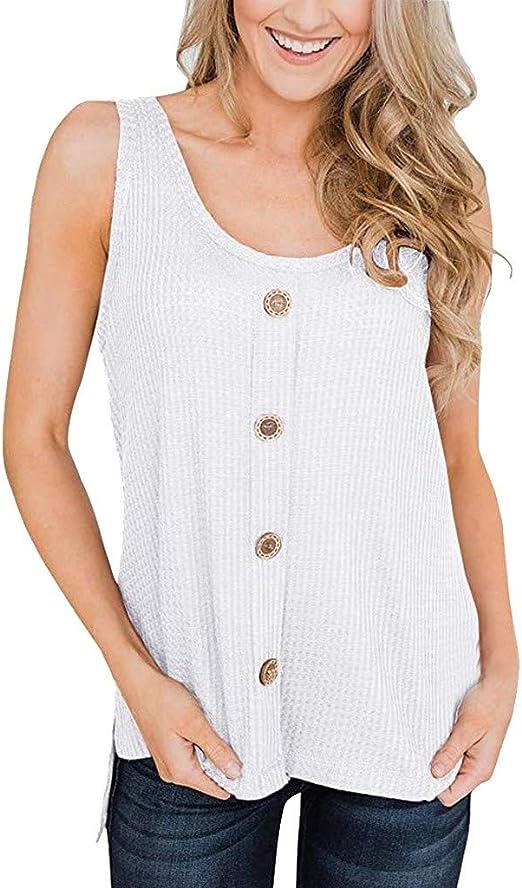 Blusa tipo túnica de punto de gofre para mujer, suelta, ajustada ...