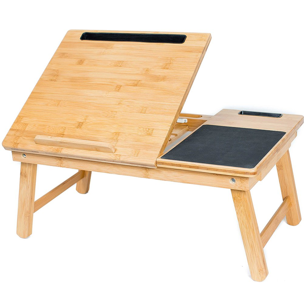 Bird rock竹折りたたみラップトップテーブルワイドベッドトレイHoldingノートブック   B07F9R9XPN