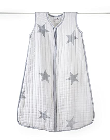 Aden 1059F anais-Saco de dormir para bebé, diseño de estrellas, color gris