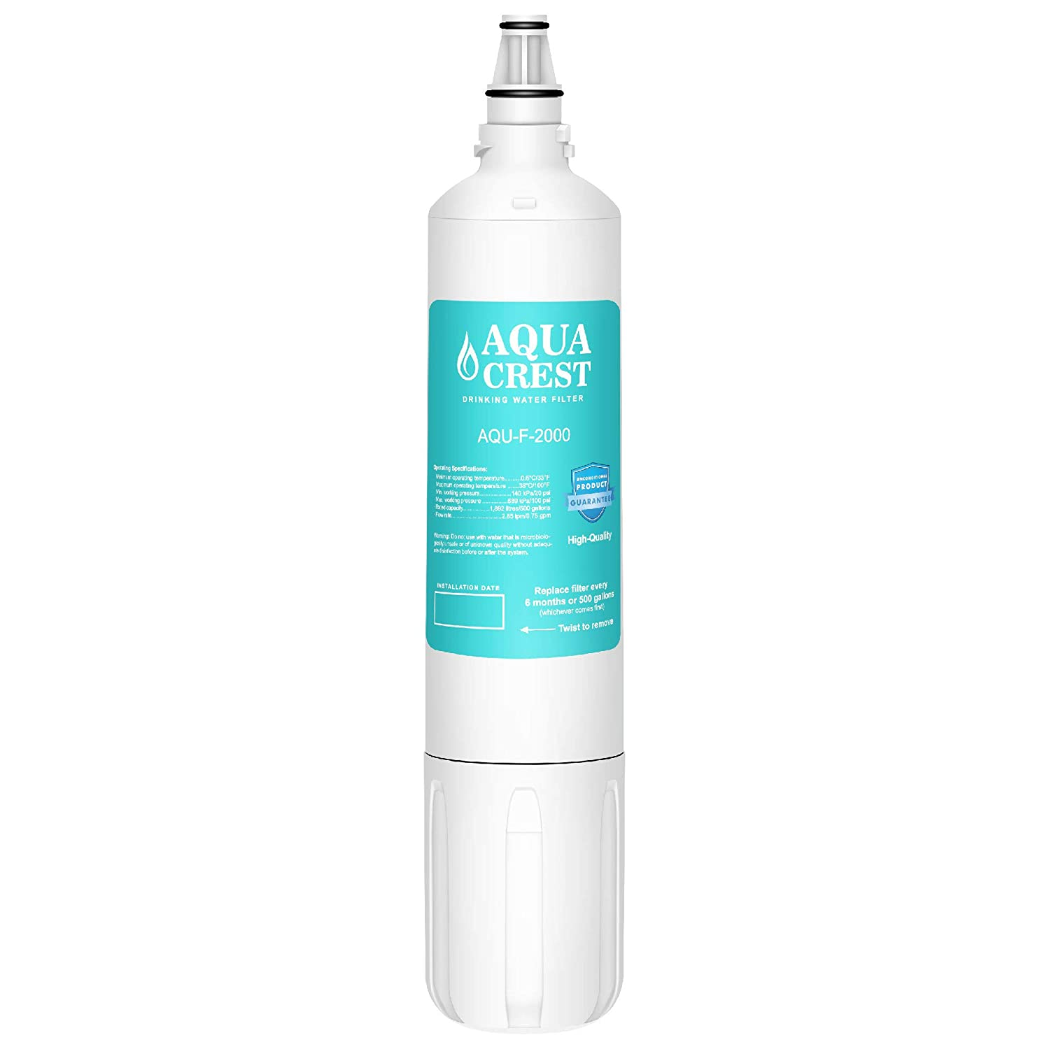 AQUA CREST F-2000 Under Sink Water Filter, Compatible with Insinkerator F-2000, F2000