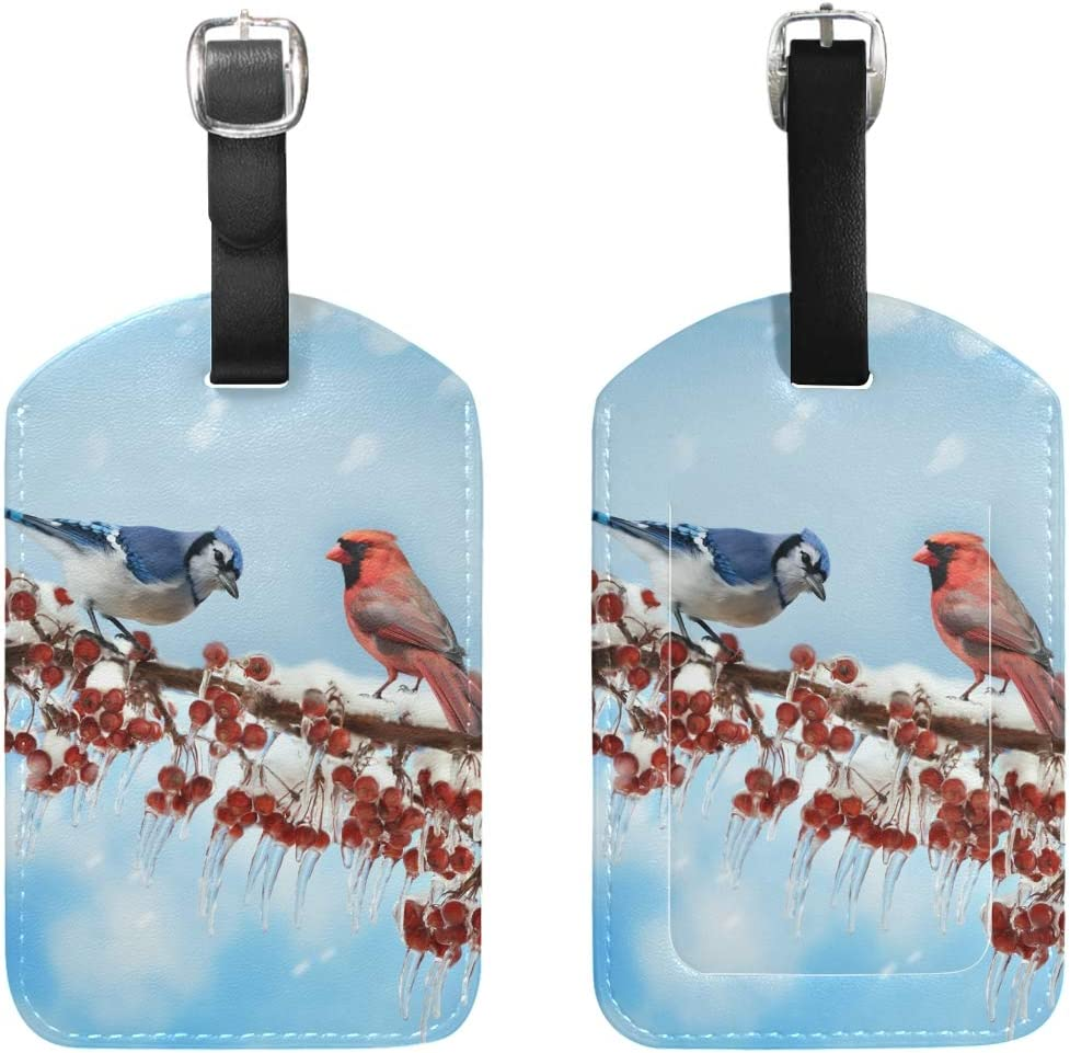 Cardinals Bird Travel Tags For Suitcase Bag Accessories 2 Pack Luggage Tags
