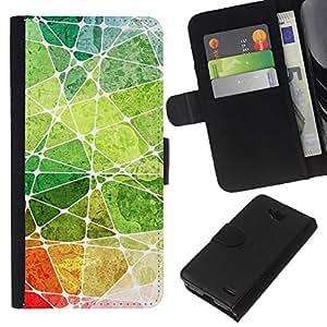 LECELL--Cuero de la tarjeta la carpeta del tirón Smartphone Slots Protección Holder For LG OPTIMUS L90 -- Acuarelas --
