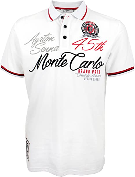 Ayrton Senna camiseta Polo Monaco Champion blanco - blanco, M ...