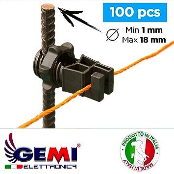 GEMI Isolateur ELETTRONICA pour piquets en Fer pour clôture ...