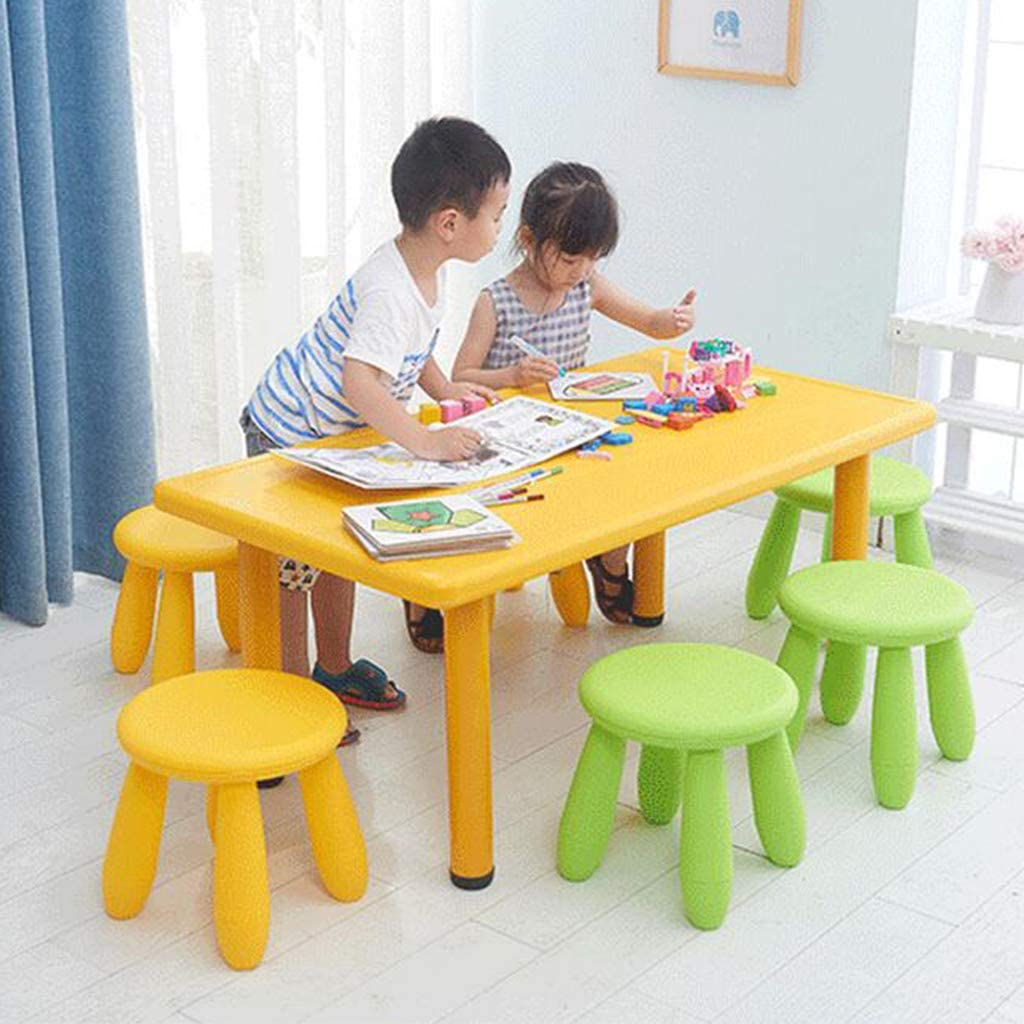Green Childrens Kids Indoor Outdoor Garden Chair Stool 30cm Durable Plastic Seat