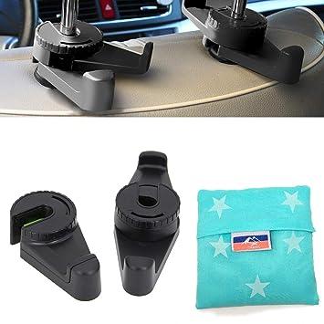 Jiankun Multifunktionale Autositz Kopfstütze Haken Universal Auto Fahrzeug Rücksitz Kopfstütze Aufhänger Halter Haken Für Tasche Geldbörse Tuch Lebensmittelgeschäft Schwarz Baby