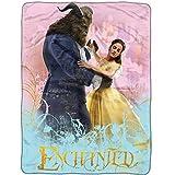 Beauty and the Beast Enchanted Dance Fleece Throw Blanket