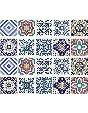 40st DIY Peel en Stick Blauw en Wit Porselein Tegel Stickers Zelfklevende Waterdicht Delft Tegels Thuis Keuken Decor Mozaïek Backsplash Vinyl Open Haard