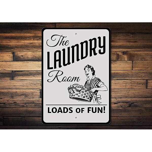 Dozili Cartel con Texto en inglés Laundry Room para ...