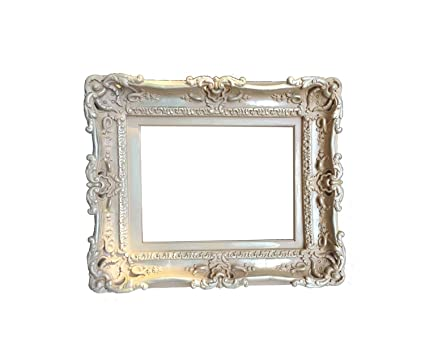 Amazon.com: 12x16 Shabby Chic Distressed Champagne Frame ...