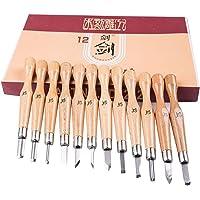 Set de 12 herramientas de talla de madera