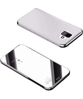 edc5b14662a TaiY Ultra Delgado Translúcido Espejo con Función Kickstand Flip Funda  Carcasa Case + Cristal Templado para