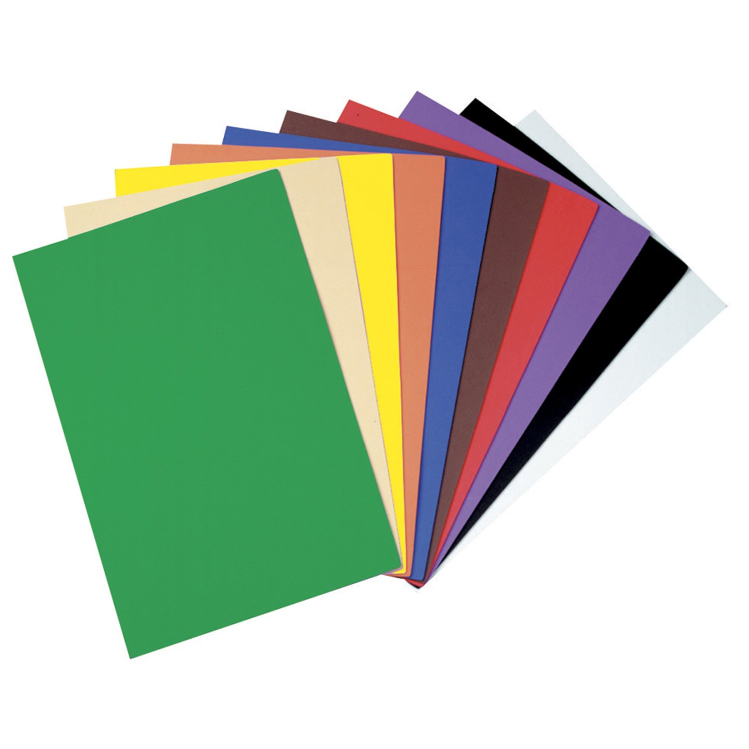 Wonderfoam Sheets, 9x12, Large, 10/PK, Assorted, Sold as 1 Package 9x12 The Chenille Kraft Company CKC4318