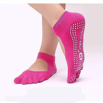 DYJILE Las Mujeres Yoga Calcetines del algodón Calcetines ...