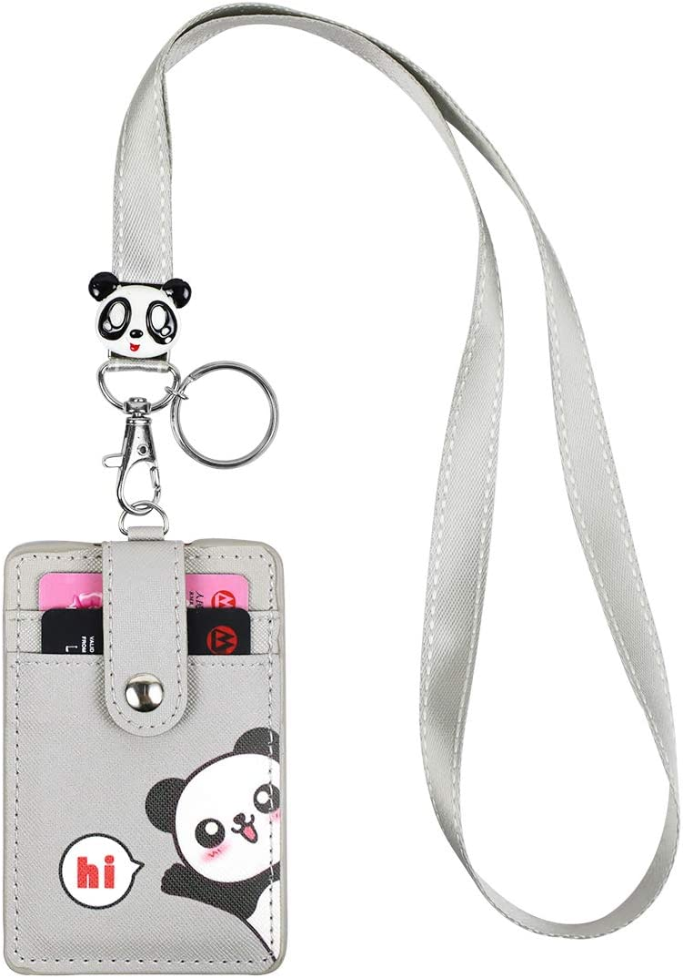Amazon Com Hasfine Cute Credit Card Case Neck Pouch Id Badge Holder Lanyard Wallet With Cartoon Image Keychain For Students Teens Boys Girls Women Office Products