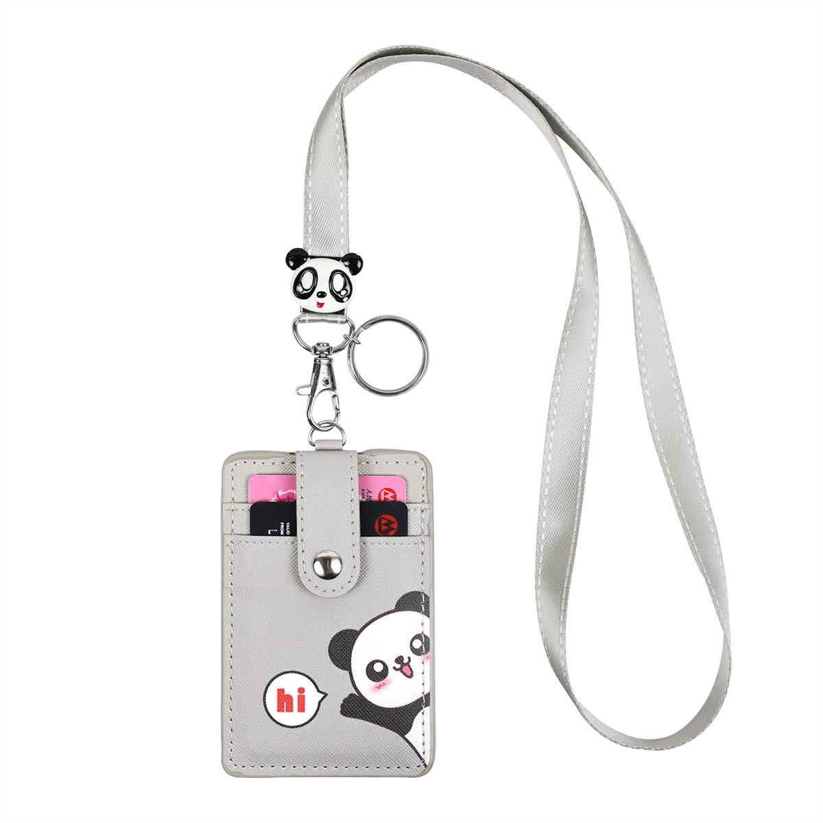Cute Pochette Tour de Cou Porte-Badges Lanyard Porte-cl/és pour Les /étudiants Enfants
