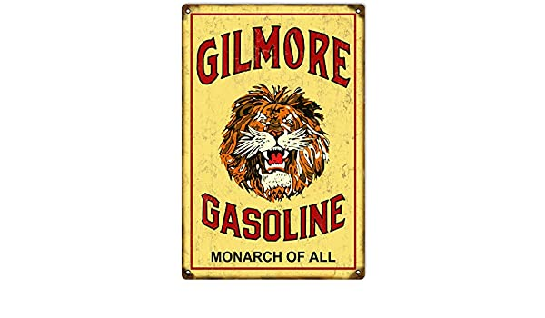 Lion Oil Gasoline gas sign . FREE shipping on any 8 signs