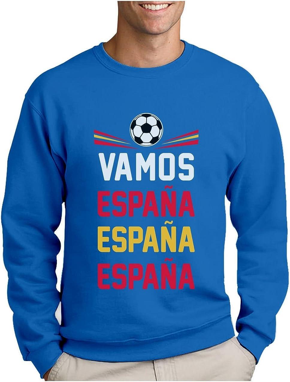 Green Turtle T-Shirts Sudadera para Hombre - Vamos España - Apoyemos a la elección Española! Large Azul: Amazon.es: Ropa y accesorios