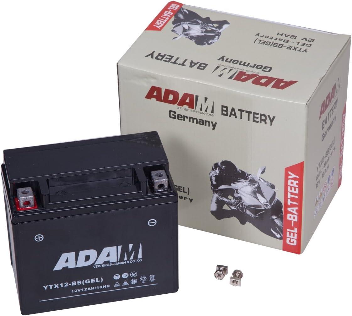 Gel Batterie 12v 12ah Ytx12 Bs 12n12 Bs Gtx12 Bs Ctx12 Bs Roller Quad Motorradbatterie Auto