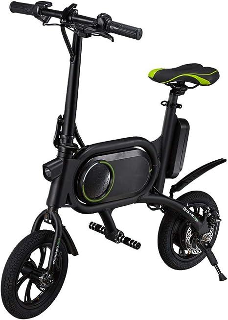 Daxiong Bicicleta eléctrica Plegable Freno de Disco Doble 12 ...